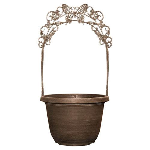 Butterfly Trellis Planter 30cm (12in) Coffee Creme