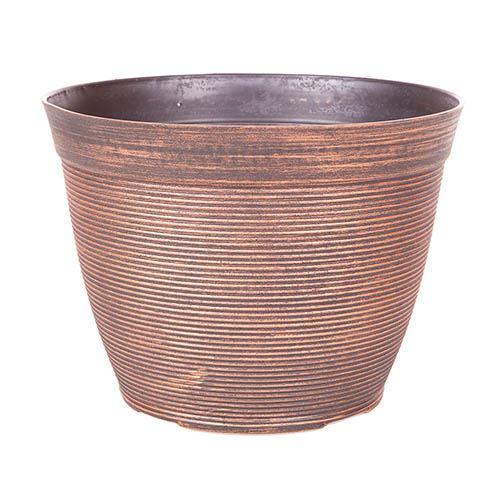 Helix Pair Round Planter 25cm (10in) Warm Copper