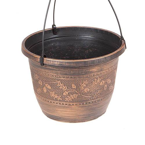 Pair of Acorn Hanging Baskets 25cm (10in) Copper-Tone