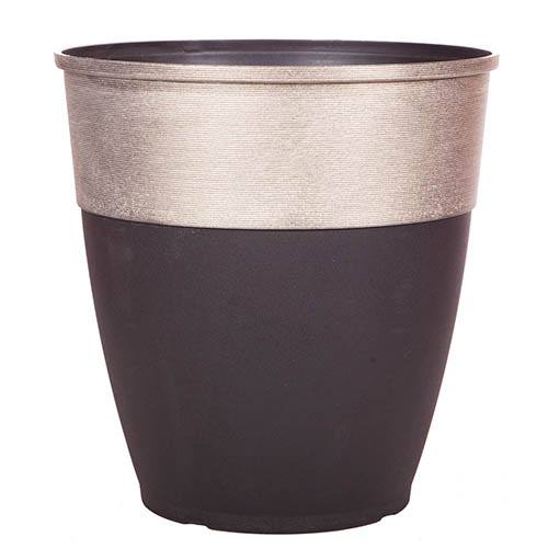 Hendrix Tall Round Planter 46cm (18in) Champagne Top
