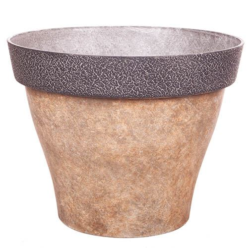 Diablo Round Planter 39cm (15in) Brown
