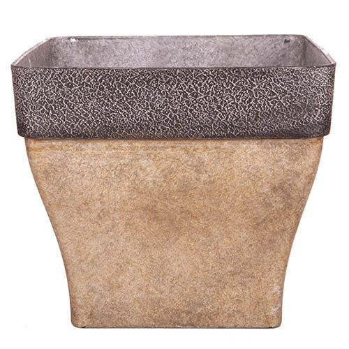 Diablo Square Planter 36cm (14in) Brown