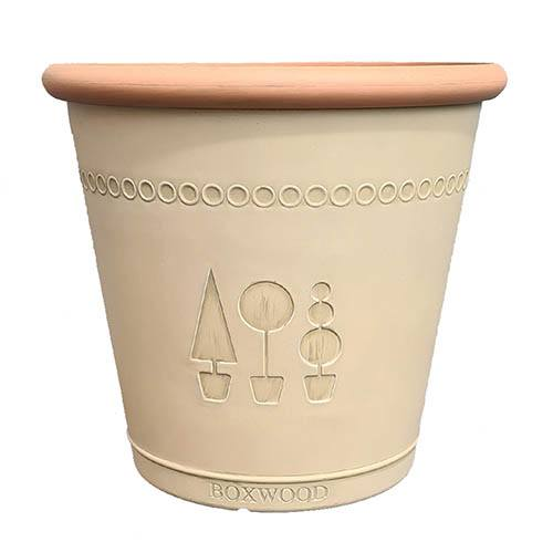 Boxwood Acorn 33cm Brown Planter