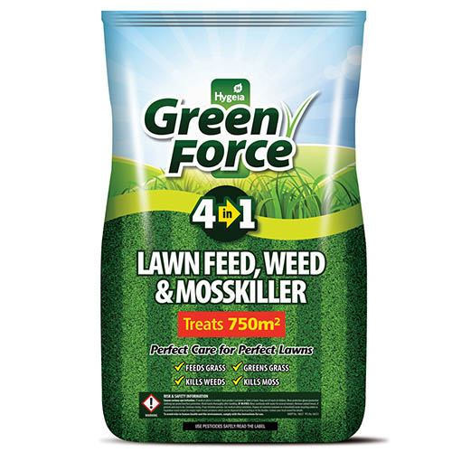 Green Force Lawn Fee, Weed & Mosskiller 15Kg