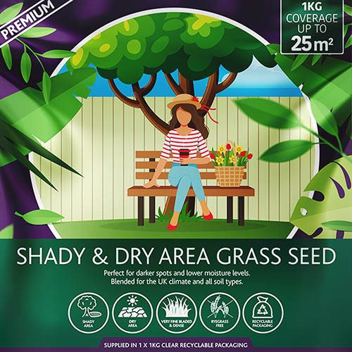 Shady and Dry Area, Premium Grass Seed Mix, 1kg