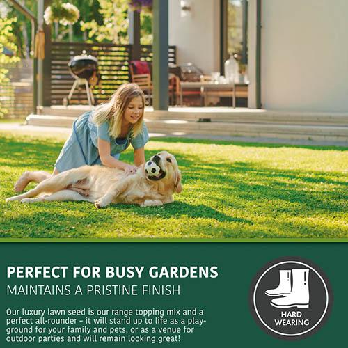 Luxury Lawn, Premium Grass Seed Mix,1kg