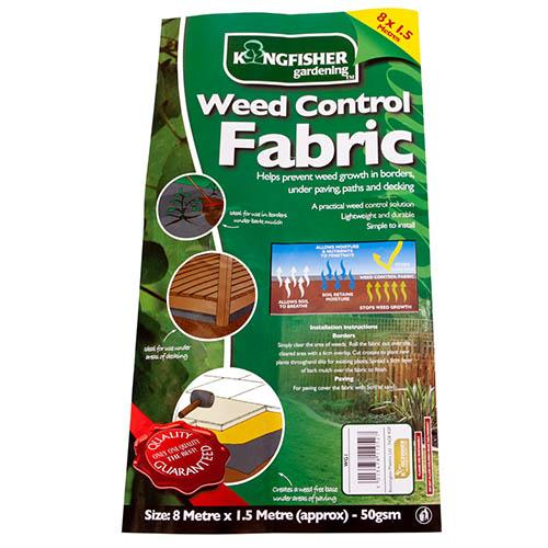 Black Weed Control Fabric 50gsm 8m x 1.5m