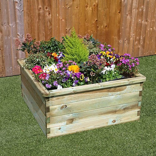 Square Sleeper Raised Bed