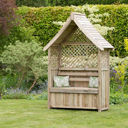 Norfolk Arbour with Storage Box