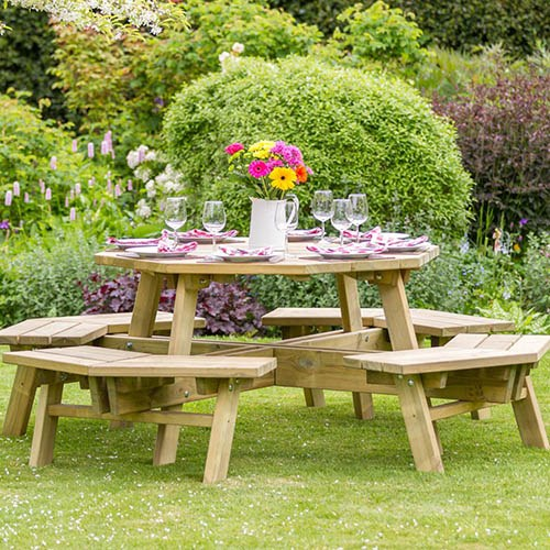 Alex Octagon Picnic Table