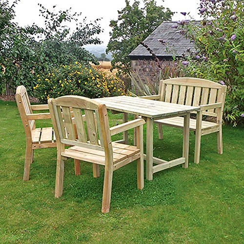 Caroline Table, Bench & 2 Chair set
