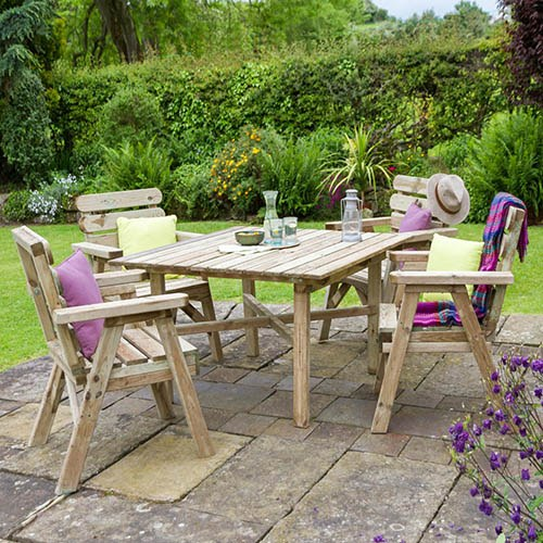 Abbey Sqaure Table & 4 chair set