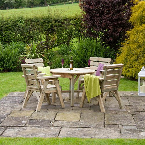 Abbey Round Table & 4 chair set