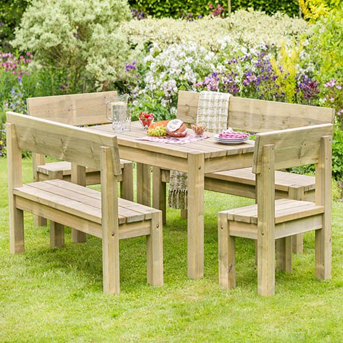Philippa Table & Bench Set