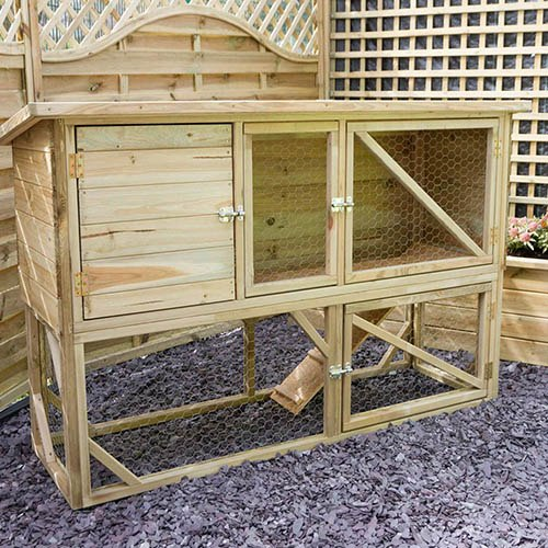 Rabbit & Guinea Pig Hutch with Run
