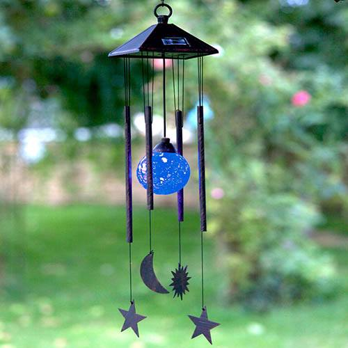 Sun, Moon & Star Solar Windchime