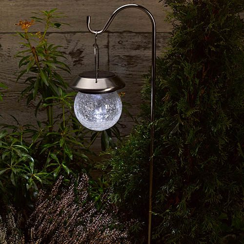 Crackle Globe Lantern 2pk