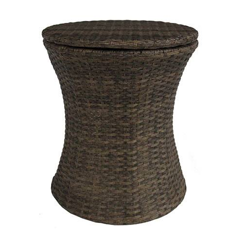 Charles Bentley Rattan Ice Bucket & Table - Natural