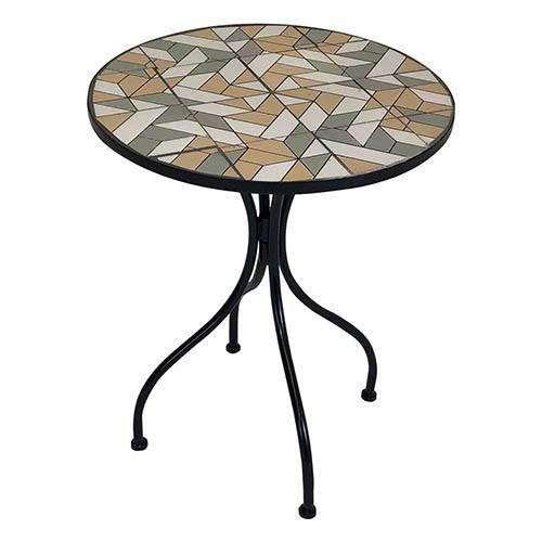 Charles Bentley Geometric Mosaic Bistro Set