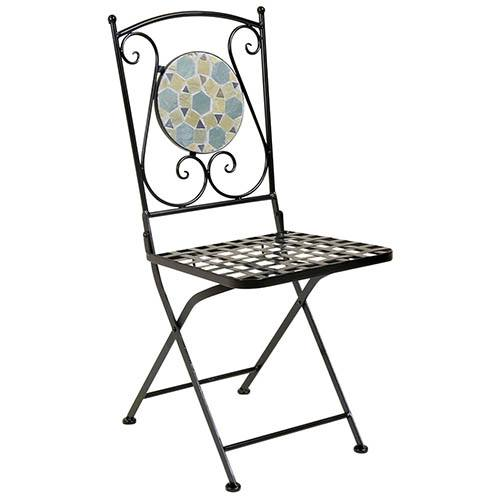 Blue Mosaic 3 Piece Bistro Set Table & 2 Chairs