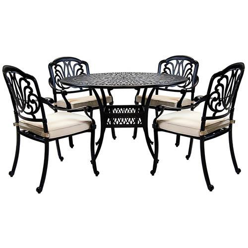 Premium Cast Aluminium 4 Seater Outdoor Dining Set