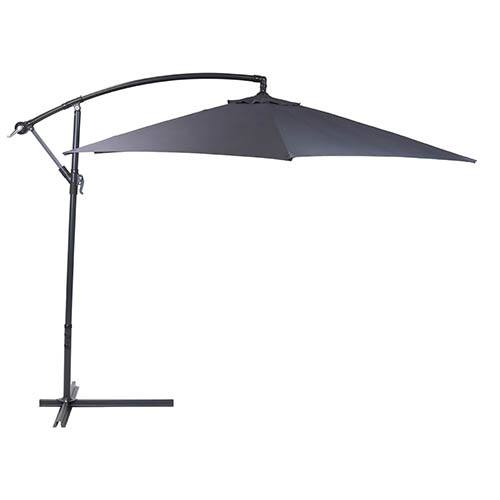 3M Round Cantilever Parasol - Grey