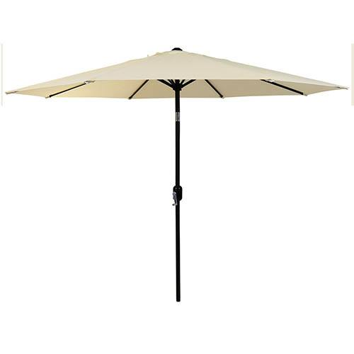 2.7M Metal Parasol Crank & Tilt - Various Colours
