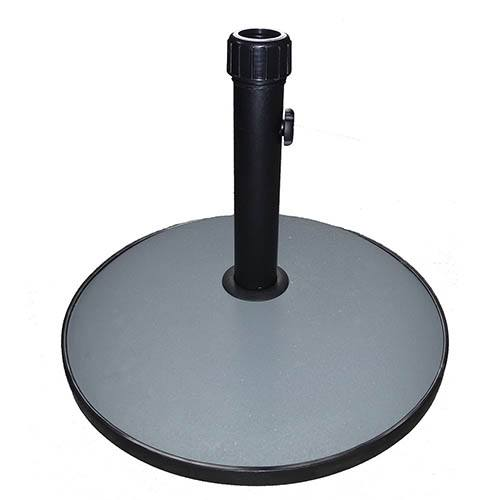 15kg Round Concrete Parasol Umbrella Base - Grey