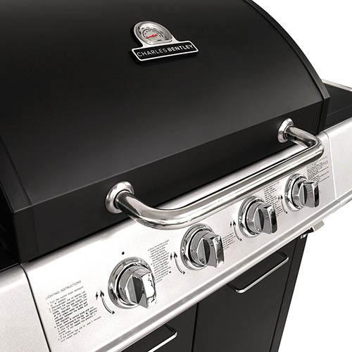 Charles Bentley 5 Burner Premium Gas BBQ  (4 x Burner + 1 Side Burner) - Black