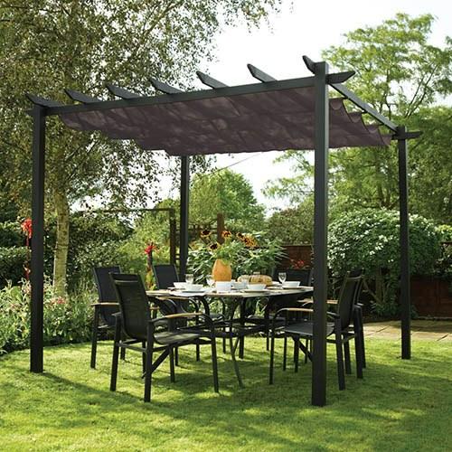 Rowlinson Latina 3x3 Grey Sun Canopy