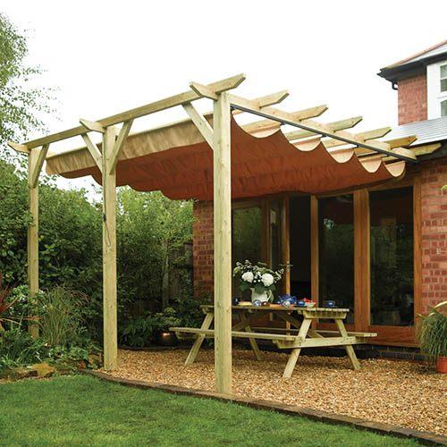 Rowlinson Sienna Wooden Sun Canopy