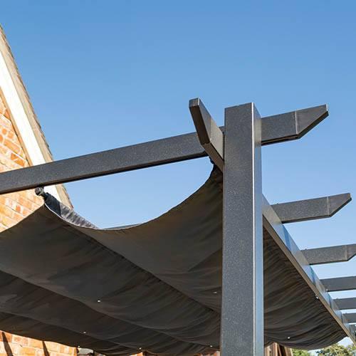Rowlinson Venetian 4x3 Grey Sun Canopy
