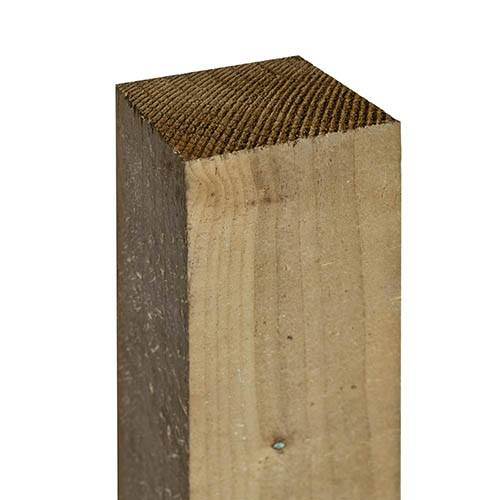 Rowlinson 8ft Fence Posts 3 (75x75mm) Green