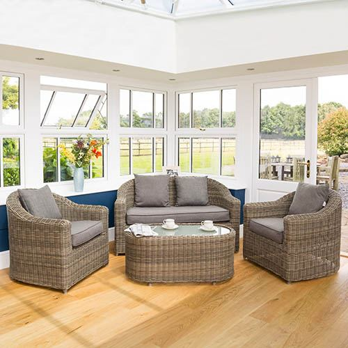 Rowlinson Bunbury Sofa Set Natural Weave