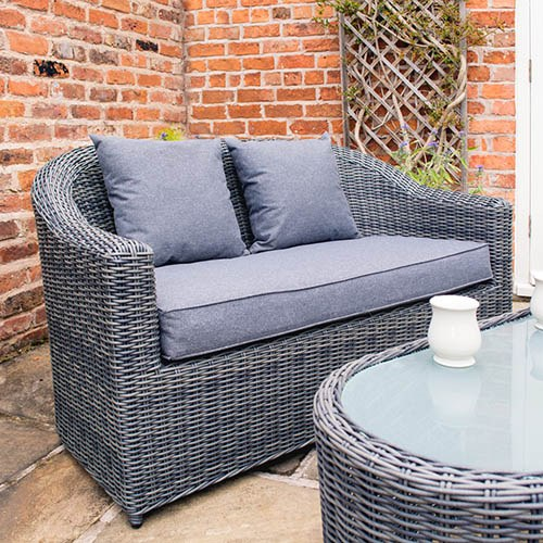 Rowlinson Bunbury Sofa Set Grey Weave