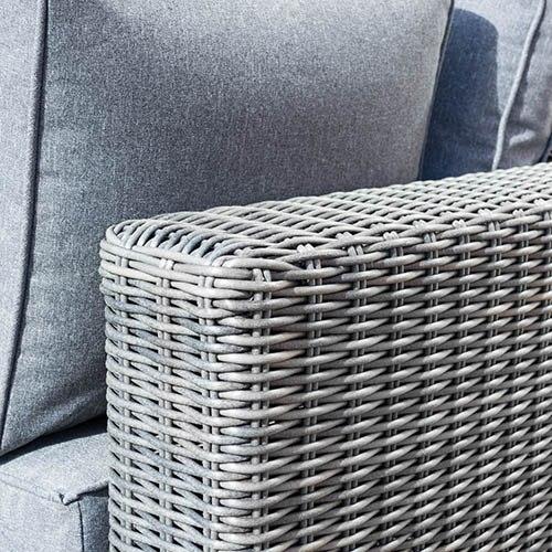 Rowlinson Vienna Lounger Set Grey Weave