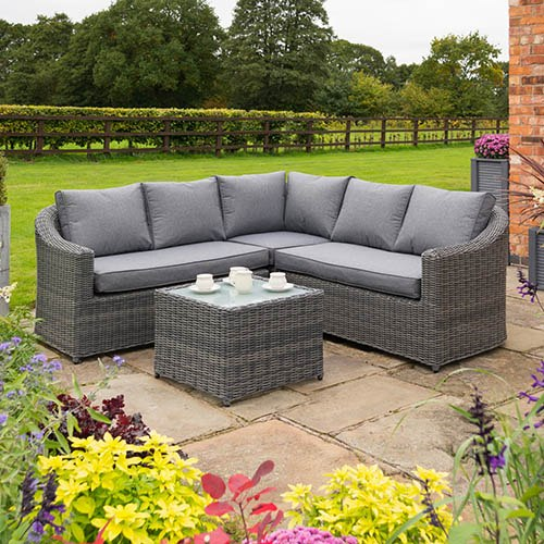 Rowlinson Bunbury Corner Sofa Set-Grey Weave
