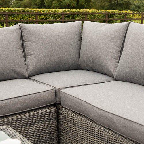 Rowlinson Bunbury Corner Sofa Set-Grey Weave
