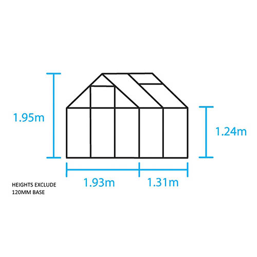 Halls Popular 64 (Green) Greenhouse-Toughened Glass