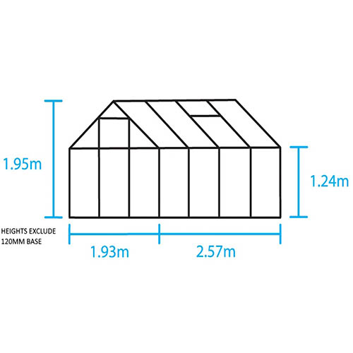 Halls Popular 68 Mill Greenhouse-Horticultural Glass