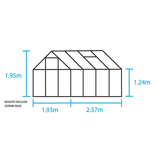 Halls Popular 68 (Green) Greenhouse-Toughened Glass