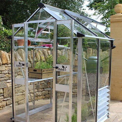 Eden Birdlip 44 Mill Greenhouse-Horticultural Glass