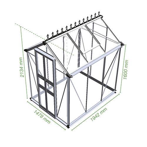 Eden Birdlip 46 Mill Greenhouse-Horticultural Glass