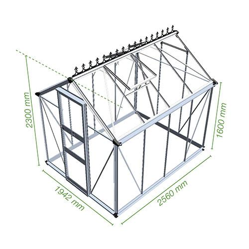 Eden Burford 68 (Green) Greenhouse-Toughened Glass