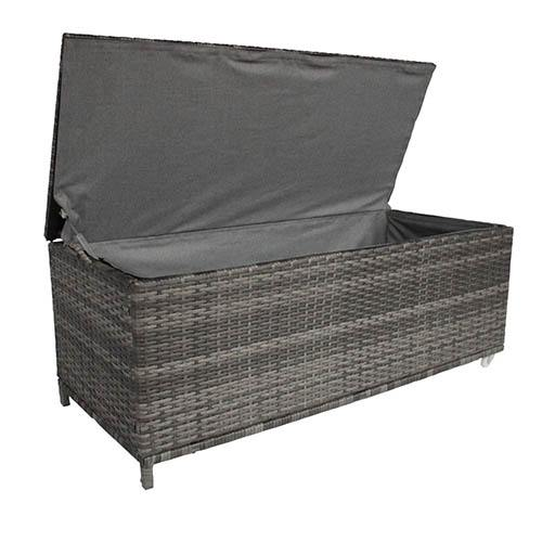 Rattan Storage Box -  Grey