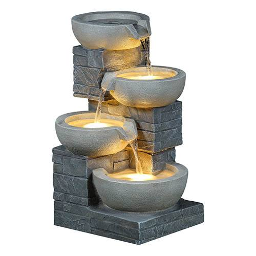 Charles Bentley 4 Cascading Bowls Water Feature