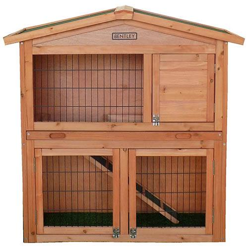 Charles Bentley Pets Large Wooden Rabbit/Guinea Pig 2 Tier House
