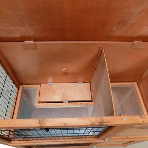 Charles Bentley Two Storey Wooden Rabbit/Guinea Pig Hutch