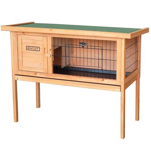 Charles Bentley Wooden Raised Rabbit Guinea Pig Hutch