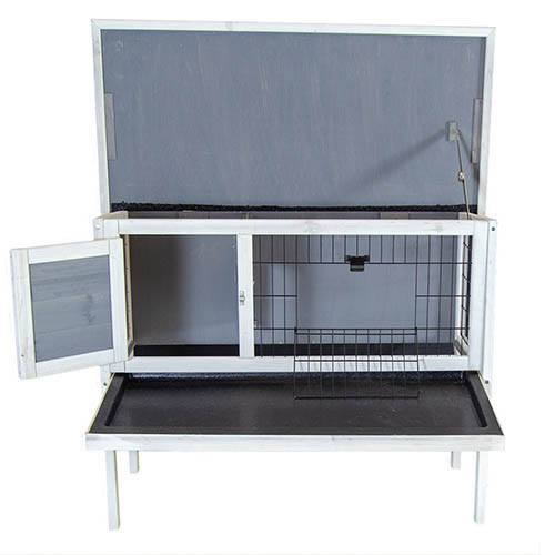 Charles Bentley Wooden Raised Rabbit/Guinea Pig Hutch